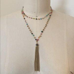 Stella & Dot Gitane Tassel Necklace